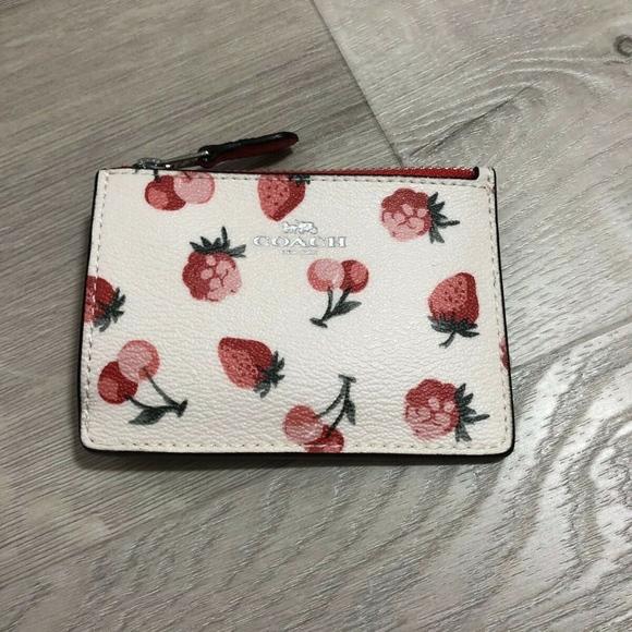 Coach Handbags - Coach Skinny ID Case Wallet Coin Cute Fruit Print